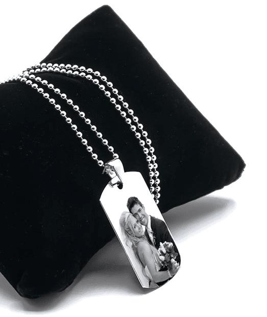 AR2150 colier Army aur alb personalizat