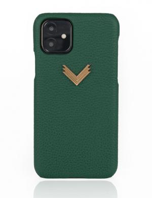 Husa iPhone 11 piele granulata Precious Green
