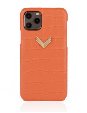 Husa iPhone 11 Pro piele embosata croco Coral
