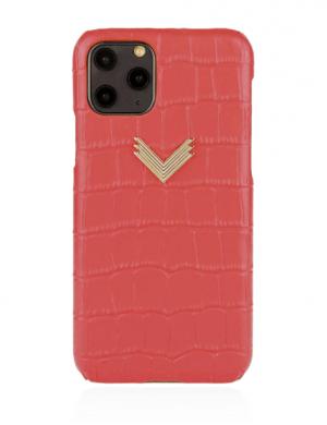 Husa iPhone 11 Pro Max piele embosata croco Irresistible Red