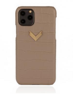Husa iPhone 11 Pro Max piele embosata croco Shades of Gray