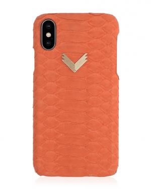 Husa iPhone XS PIELE PITON Enjoy Coral