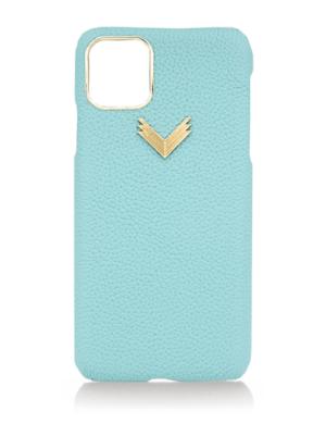 Husa iPhone 11 Pro piele granulata Deep Aqua