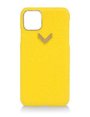 Husa iPhone 11 Pro Max piele granulata Yellow