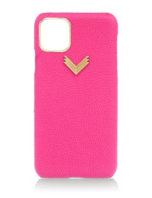 Husa iPhone 11 Pro piele granulata Fuxia