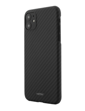 Husa iPhone 11, Kevlar, Carbon Glossy Black