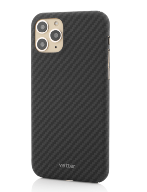Husa iPhone 11 Pro, Kevlar, Carbon Glossy Black