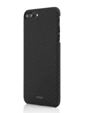 Husa iPhone 7 Plus, Kevlar, Carbon Glossy Black