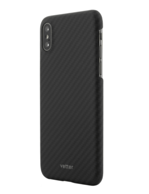 Husa iPhone XS, Kevlar, Carbon Glossy Black