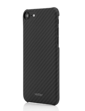 Husa iPhone SE 2020, Kevlar, Carbon Glossy Black