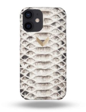 Husa Telefon iPhone 12 Piele Piton Shades of Grey