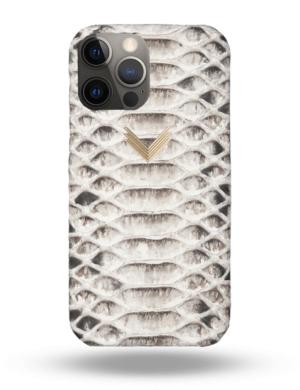 Husa Telefon iPhone 12 Pro Max Piele Piton Shades of Grey