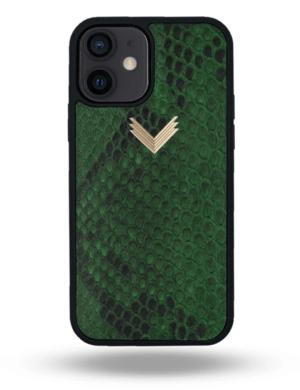 Husa iPhone 12 PIELE PITON Forest