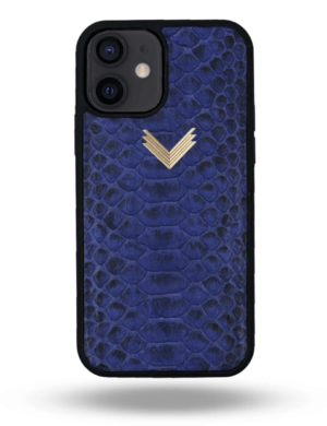 Husa iPhone 12 PIELE PITON Deep Ultramarine