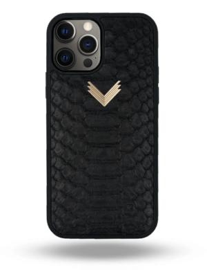 Husa iPhone 12 Pro Max PIELE PITON Mystery Black