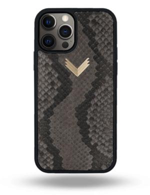 Husa iPhone 12 Pro Max PIELE PITON Ash