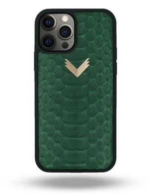 Husa iPhone 12 Pro Max PIELE PITON Dark Green