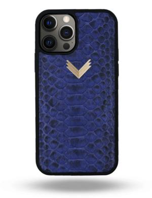 Husa iPhone 12 Pro Max PIELE PITON Deep Ultramarine