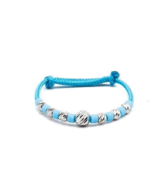 AR3390 inel aur alb cu snur baby blue